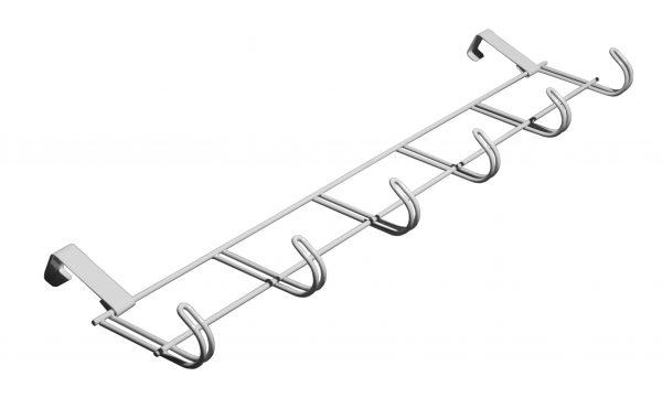 Vješalica za vrata metalna bijela