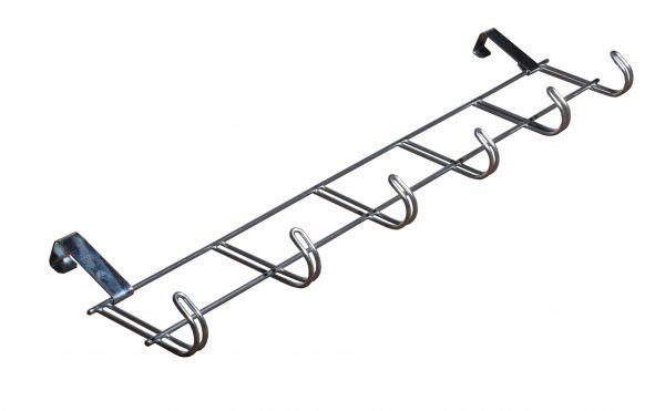 Vješalica za vrata metalna srebrna